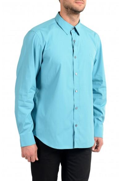 "Burberry Men's ""CAMBRIDGE"" Aqua Blue Long Sleeve Shirt: Picture 2"