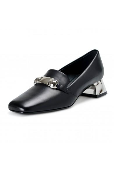Burberry London Women's AMIKA Black Leather Heeled Pumps Shoes