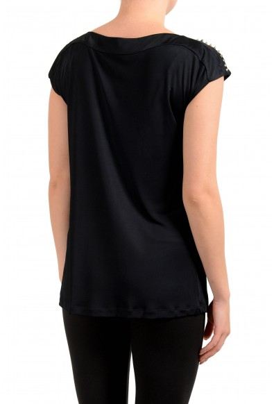 Versace Collection Women's Black Blouse Top: Picture 2