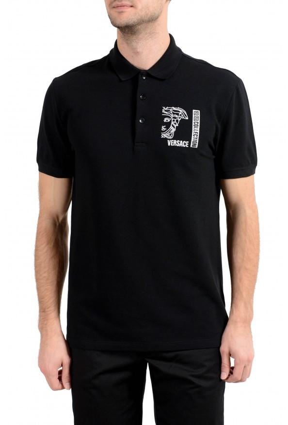 Versace Collection Men's Black Logo Short Sleeve Polo Shirt