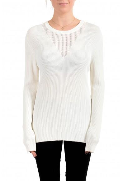 "Hugo Boss Women's ""Febecca"" Off White Crewneck Pullover Sweater"