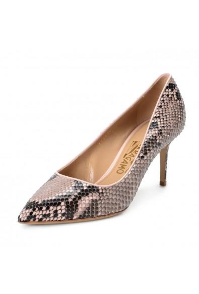 "Salvatore Ferragamo ""Flore70"" Women's Python Skin High Heels Pumps Shoes"