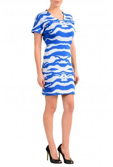 Just Cavalli Multi-Color Short Sleeve V-Neck Women's Sheath Dress: Picture 2