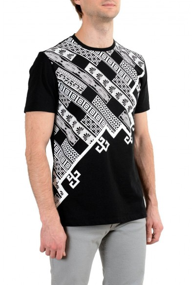Versace Collection Men's Black Graphic Short Sleeve Crewneck T-Shirt: Picture 2