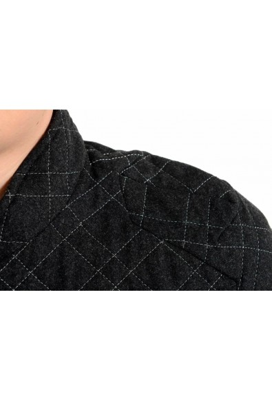 Just Cavalli Men's Gray Quilted Wool Full Zip Jacket: Picture 2