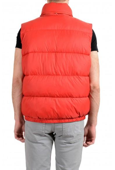 Versace Men's Red Logo Full Zip Sleeveless Parka Vest: Picture 2