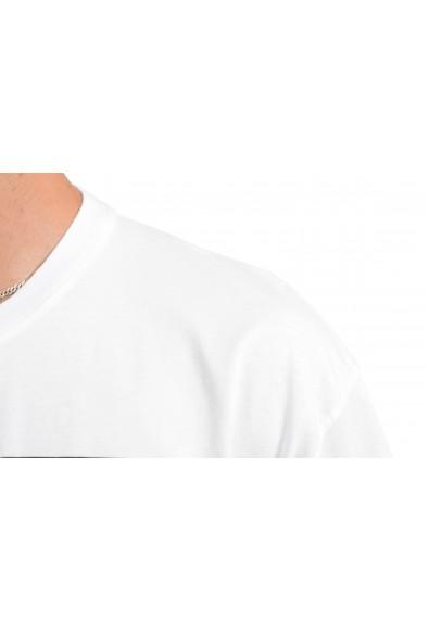 Just Cavalli Men's White Graphic Print Crewneck T-Shirt: Picture 2