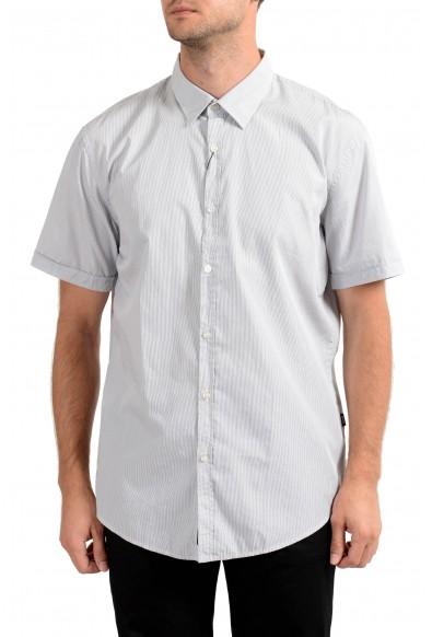 "Hugo Boss Men's ""Ronn_1"" Slim Fit Striped Short Sleeve Casual Shirt"