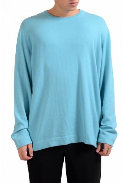 Malo Men's Turquoise 100% Cashmere Crewneck Pullover Sweater