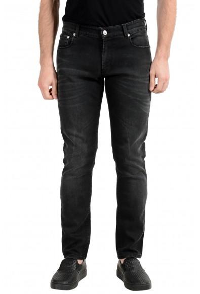 Versus by Versace Men's Gray Stretch Slim Jeans