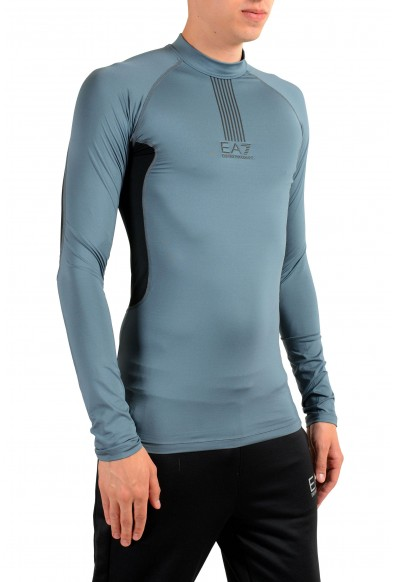 "Emporio Armani EA7 ""Tech M"" Men's Gray High Neck Long Sleeve T-Shirt: Picture 2"