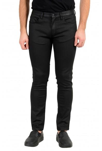 "Hugo Boss Men's ""HUGO 734"" Skinny Fit Black Wash Stretch Jeans"