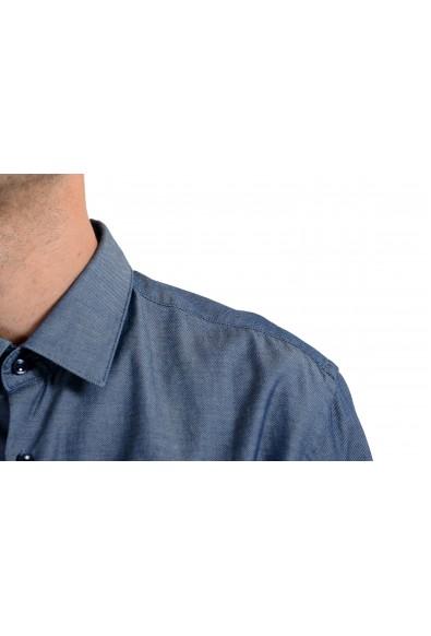 "Hugo Boss Men's ""Isko"" Blue Slim Fit Long Sleeve Dress Shirt: Picture 2"