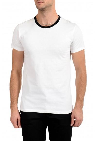 Just Cavalli Men's White & Black Graphic T-Shirt