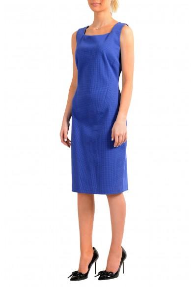 """Hugo Boss Women's """"Davenara"""" Blue Zip Up Sleeveless Pencil Dress: Picture 2"""