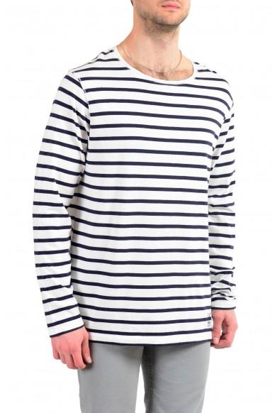 Burberry Men's Multi-Color Striped Crewneck Long Sleeve T-Shirt: Picture 2