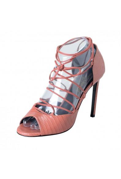 Saint Laurent Women's Leather High Heel Ankle Strap Pump Shoes