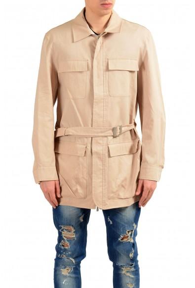 Malo Beige Full Zip Men's Basic Coat