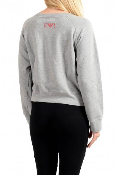 Emporio Armani Women's Gray Crewneck Pullover Sweater Sweatshirt: Picture 2