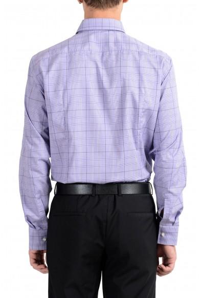 "Hugo Boss ""Juan"" Men's Plaid Purple Slim Fit Long Sleeve Dress Shirt: Picture 2"