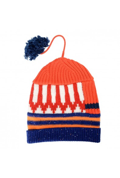 Burberry Unisex Cashmere Wool Multi-Color Patchwork Pompon Beanie Hat: Picture 2