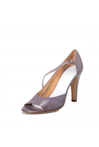 Maison Margiela Women's Distressed Look Purple Leather Heeled Pumps Shoes