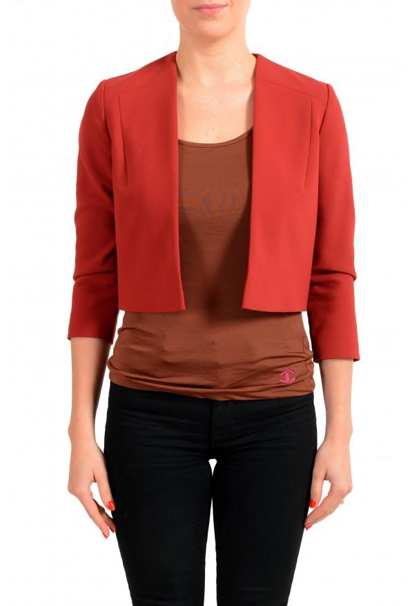 "Hugo Boss Women's ""Jikiva"" Bright Red Buttonless Blazer"