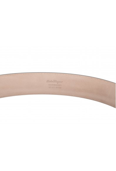 Salvatore Ferragamo Men's Black 100% Textured Leather Buckle Decorated Belt: Picture 2
