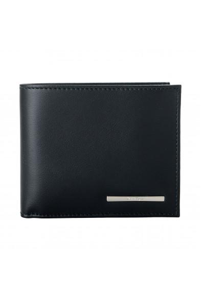 Salvatore Ferragamo Men's Black Logo Decorated 100% Leather Bifold Wallet