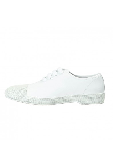 Prada Men's White Leather Fashion Sneakers Shoes: Picture 2