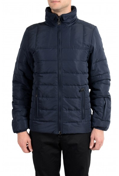 Roberto Cavalli Men's Down Navy Blue Full Zip Parka Jacket