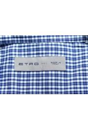 Etro Men's Blue & White Plaid Long Sleeve Dress Shirt : Picture 7