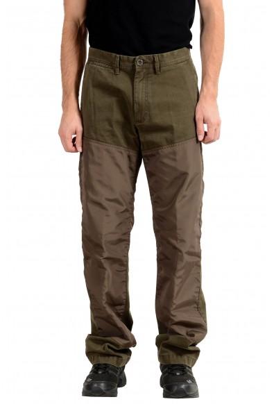 Moncler Men's Olive Green Casual Pants