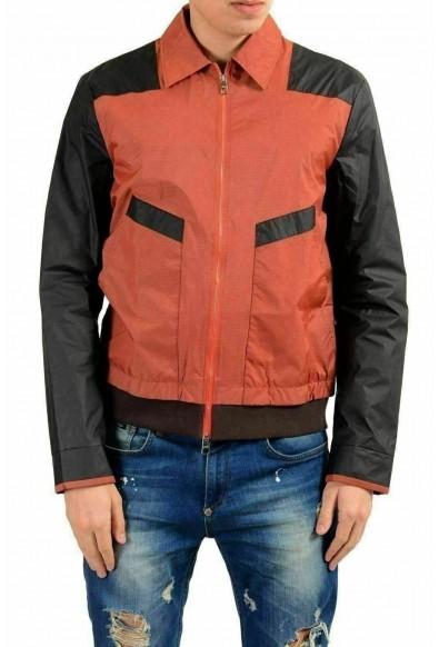 Versace Collection Men's Multi-Color Full Zip Windbreaker Jacket