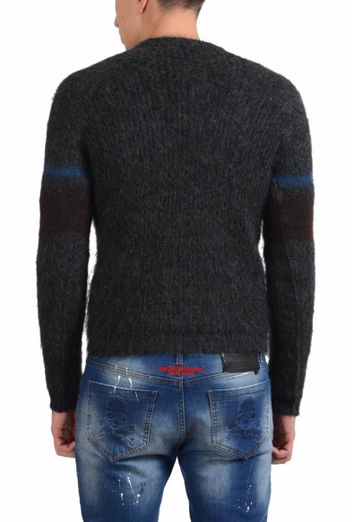 Prada Men's Mohair Wool Crewneck Gray Sweater: Picture 2
