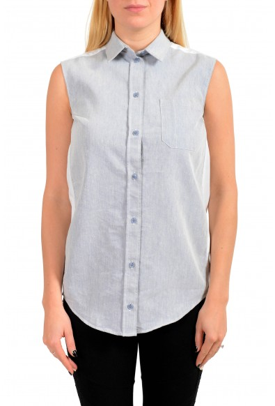Maison Margiela MM6 Women's Gray Button Down Blouse Top