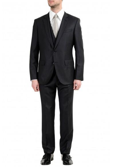 """Hugo Boss """"Huge6/Genius4WE"""" Men's 100% Wool Two Button Three-Piece Suit"""