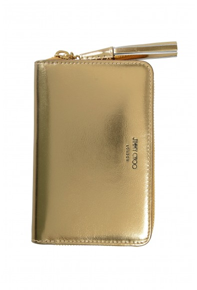 """Jimmy Choo Women's Gold Leather """"ATHINI"""" Zip Around Wallet"""