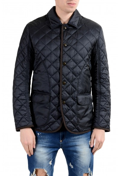 Bogner Men's Navy Blue Quilted Button Up Jacket