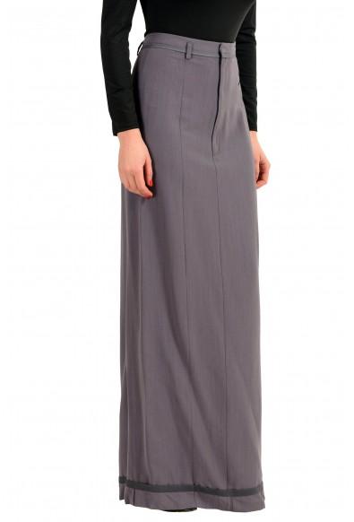 Maison Margiela 1 Wool Gray Women's Maxi Skirt: Picture 2
