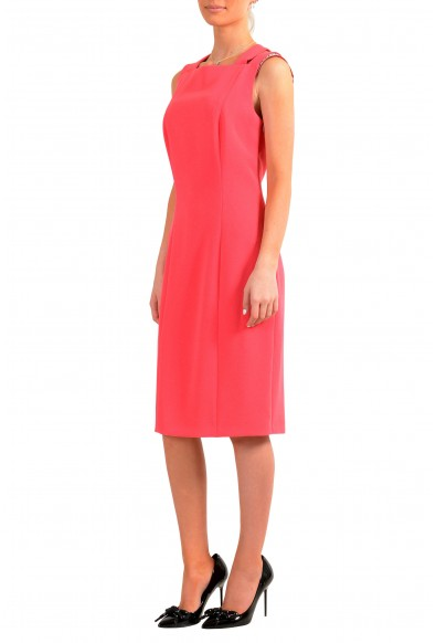 "Hugo Boss Women's ""Daphima"" Pink Sleeveless Pencil Dress: Picture 2"