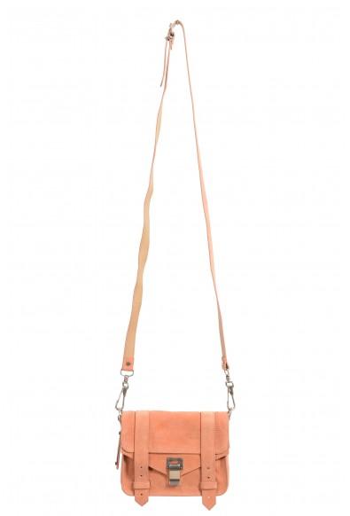 Proenza Schouler Women's Pink Suede Leather Mini Crossbody Shoulder Bag