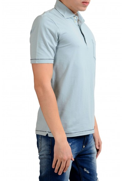 Malo Men's Stone Blue Short Sleeve Polo Shirt : Picture 2