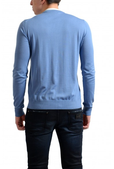 Prada Men's 100% Wool Light Blue Crewneck Pullover Sweater: Picture 2