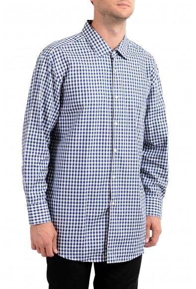 Hugo Boss Men's Marley US Sharp Fit Plaid Long Sleeve Dress Shirt
