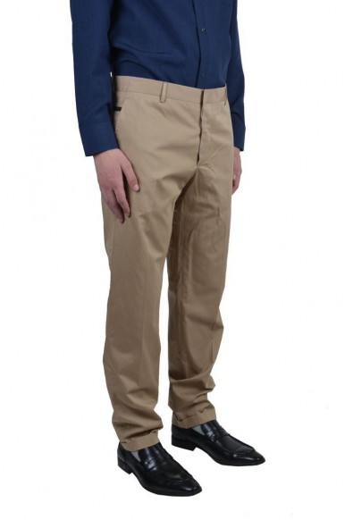Prada Beige Flat Front Men's Casual Pants: Picture 2