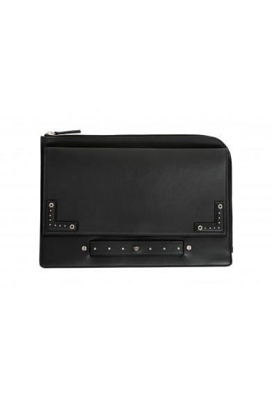 Versace Women's Black Leather Handbag Clutch