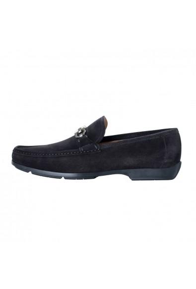 "Salvatore Ferragamo ""Gerolamo"" Men's Suede Leather Black Loafers Slip On Shoes: Picture 2"
