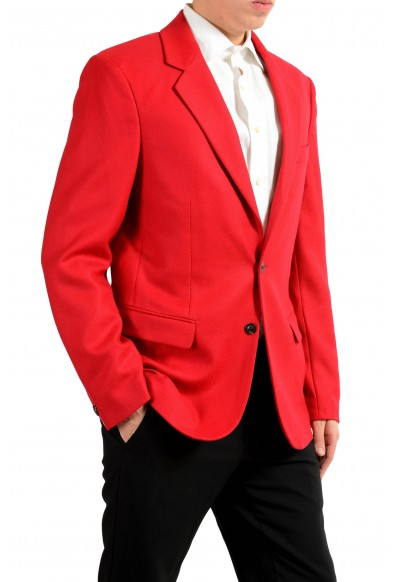 Versace Men's 100% Wool Red Two Button Blazer Sport Coat: Picture 2