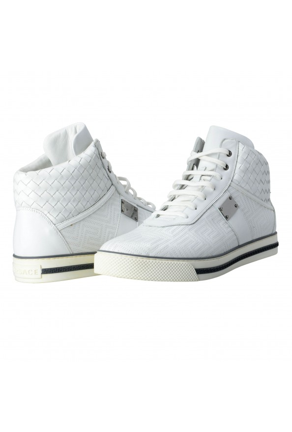 Gianni Versace Men's Leather Hi Top Sneakers Shoes : Picture 7